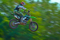 An unidentified rider bucharest romania august participates in the fourth national endurocross championship on august at Royalty Free Stock Photography