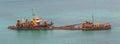 Unidentified sunken vessel Royalty Free Stock Photo