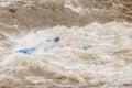 Unidentified Whitewater Kayaker Royalty Free Stock Photo