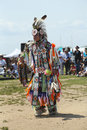 Unidentified young native american dancer at the nyc pow wow in brooklyn new york june on june a is a gathering Royalty Free Stock Photography