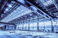 Unified standard typical span prefabricated of a steel frame production building Royalty Free Stock Photo