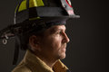 Uniformed Firefighter Portrait...