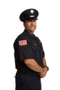 Uniformed Firefighter Portrait on White Royalty Free Stock Photos