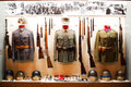 Uniforms on display in museum Stock Images