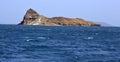 Uninhibited rocky volcanic islet near hanish island in red sea the bab el mandeb strait yemen Stock Photos