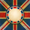 Union jack and border Royalty Free Stock Images