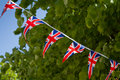 Union Jack Bunting. Royalty Free Stock Photo