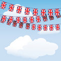 Union Jack bunting flags Stock Image
