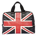 Union Jack Flag on black leather handbag Royalty Free Stock Photography