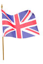 Union jack flag cutout Stock Photography