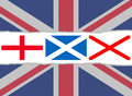 Union Jack flag from the flags of England, Scotland and Ireland Stock Images