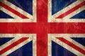 Union jack flag in grunge effect