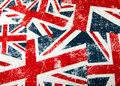 Union jack flag montage to be used as a backgrounf Royalty Free Stock Photography
