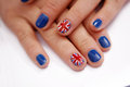 Union Jack flag on nails Stock Photo