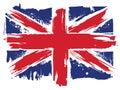 Union Jack flag of the United Kingdom Royalty Free Stock Photo