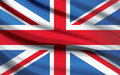 Union Jack Flag waving photorealistic