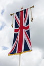 Union jack flag at windsor castle a hanging in eton england Stock Photos