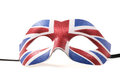 Union jack masquerade mask cutout Stock Photo