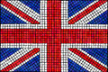 Union Jack mosaic Royalty Free Stock Photography