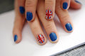 Union Jack nails Royalty Free Stock Photography