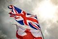 Union Jack and Saint George Flag Royalty Free Stock Photo