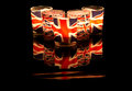 Union Jack Tealights Royalty Free Stock Image