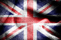 The union jack texture of sackcloth with image of Stock Photography