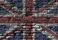 Union Jack wall Royalty Free Stock Images