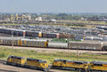 Union pacific bailey rail yard north platte nebraska july s from golden spike tower it is where east meets west on the Royalty Free Stock Photo