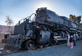 Union pacific big boy steam locomotive bloomington ca feb s is on display before its move to cheyenne wy for restoration this is Royalty Free Stock Image