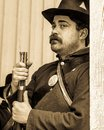 Union soldier portrait in septia