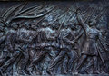 Union soldiers charging ulysses us grantcivil war memorial capitol hill washington dc created henry shrady dedicated commercial Stock Images