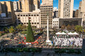 Union Square at Christmas time in San Francisco Royalty Free Stock Photo
