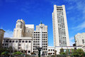 Union square in san francisco california usaunion square in s a panoramic view of usa Royalty Free Stock Images