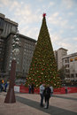 Union square san francisco in downtown california usa with christmas tree Royalty Free Stock Photo