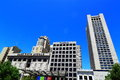 Union square shopping san francisco at downtown california usa Royalty Free Stock Images