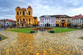 Union square timisoara romania unirii is the main of the ancient fortress of Royalty Free Stock Photo