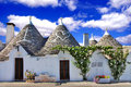 Unique alberobello trulli village italy Royalty Free Stock Photography