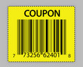 Unique barcode coupon illustration Royalty Free Stock Photo