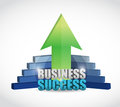 Unique business success graph illustration design over white Royalty Free Stock Image