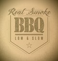 Unique and classic text barbeque stamp barbecue on a cardboard texture Royalty Free Stock Photo