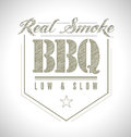 Unique and classic text barbeque stamp illustration design Royalty Free Stock Photography