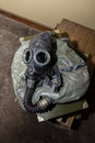Unique collection of ex Soviet (USSR) gas masks Royalty Free Stock Photo