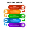 Colorful 5 steps infographic design template.