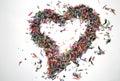 An unique confetti heart