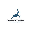 Unique Deer Logo Royalty Free Stock Photo