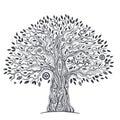 Unique ethnic tree of life beautiful illustration Stock Photography