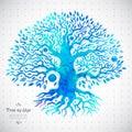 Unique ethnic tree of life beautiful illustration Royalty Free Stock Images
