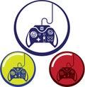 Unique Game Controller Icon Vector Art