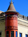 Unique historic building the adelmann was constructed during in boise idaho with german and romanesque style architecture the Royalty Free Stock Photography